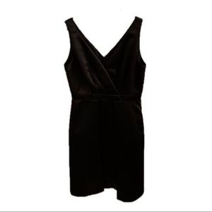 Tahari Black Satin Cocktail Dress
